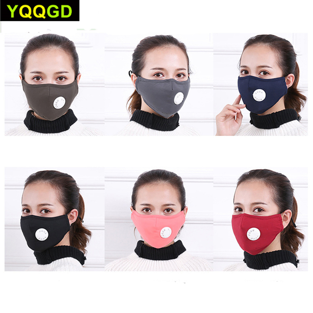 1Pcs Mask Respirator Washable Reusable Masks Cotton Unisex Mouth Muffle for Travel/ Cycling
