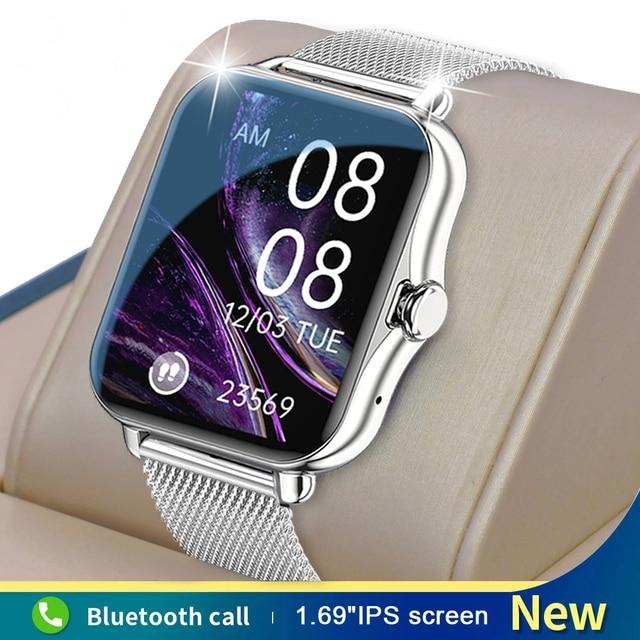 GEJIAN Smart Watch Men Women Bluetooth Call Smartwatch ECG Fitness Tracker Waterproof 1.69 inch touch screen For Android iOS 1