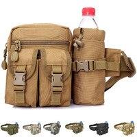 Riñonera de nailon impermeable para hombre, riñonera táctica militar del ejército, senderismo, acampar al aire libre, hombro, cinturón, riñonera, bolsas deportivas