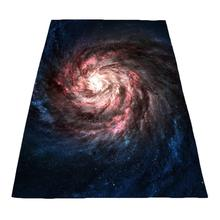 Explosion vortex starry sky black hole printing flannel thickened sofa blanket edging multiple sizes available