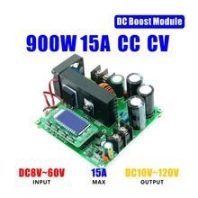 Boost Module Power Supply Voltage 900W 15A DC DC Boost Converter 8V 60V to 10V 120V Digital LCD Display Module