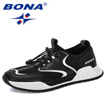 BONA 2020 New Style Breathable Mesh Sneakers Men Casual Shoes