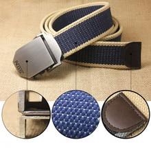 Unisex tactical belt 130 cm casual canvas belt Outdoor Alloy Automatic buckle men Belt High Quality Casual Belt Waistband #A