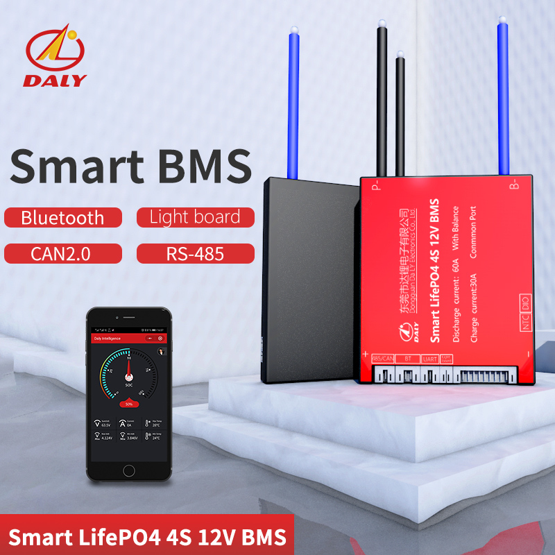 Smart BMS  LiFePO4  4S 12V  Bluetooth+485 To USB Device +CAN+NTC +UART  Togther Lion LiFePO4 LTO  Batteries2.3V/2.4V Conn