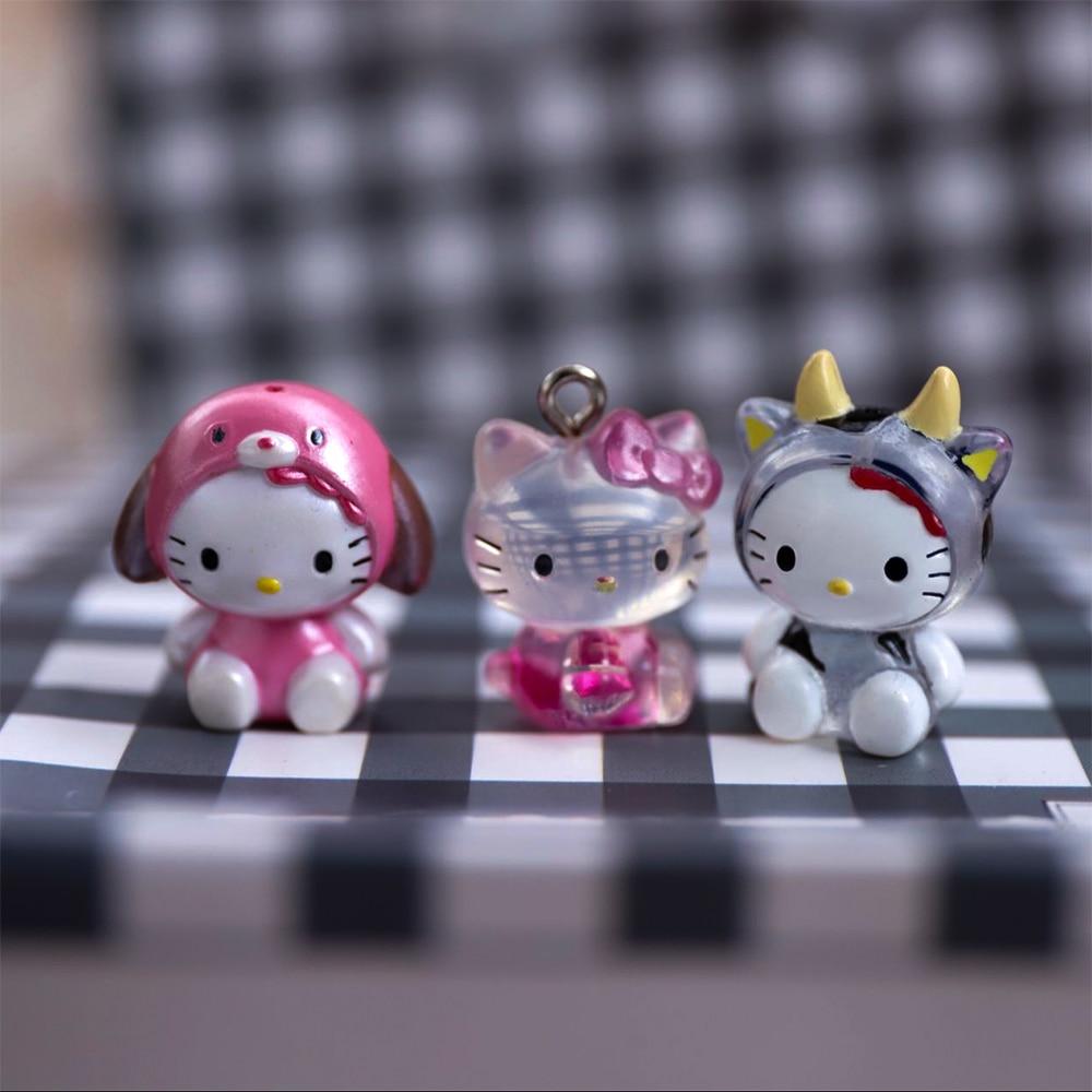 1pcs Kids Gifts Mini Figurine Hello Kitty Decoration Cute Doll Model Toys 2cm