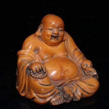 Imitation ivory solid Ruyi Maitreya Buddha ornament