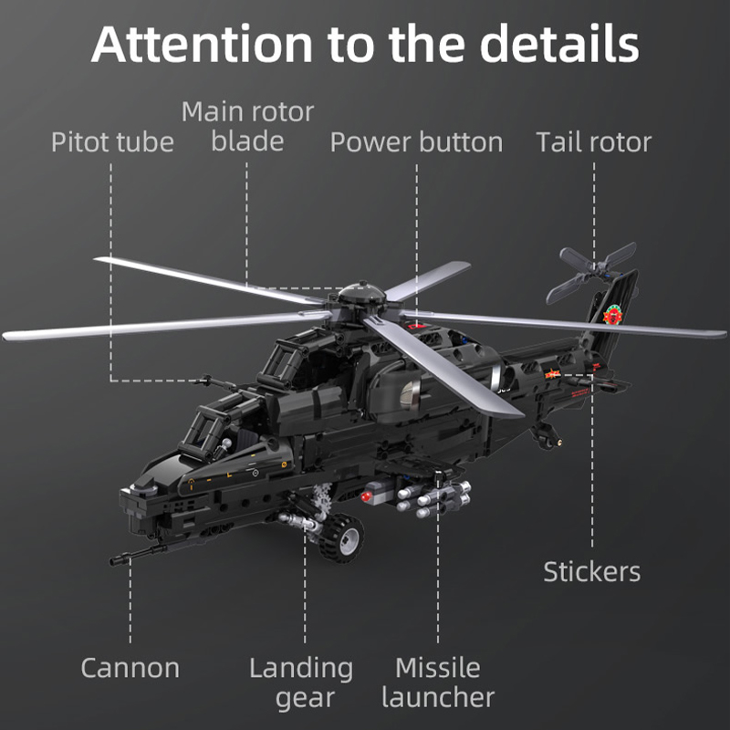 Cada 989pcs City Police Weapon RC Helicopter