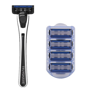 TFLYSHAVE Man Manual Shaver Razor Blade 5 Layer Razor with Trimmer Blade Face Care Men Shaving Replaceable Blade tflyshave men shaver razor usa blade shaving razor blade for man 5 layer blade replaceable blade 1 handle 8pc x5 blade