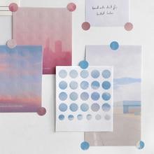 3 листа Kawaii Dot sticker s милые клейкие декоративные наклейки s бумажные наклейки для детей DIY Скрапбукинг дневник канцелярские принадлежности