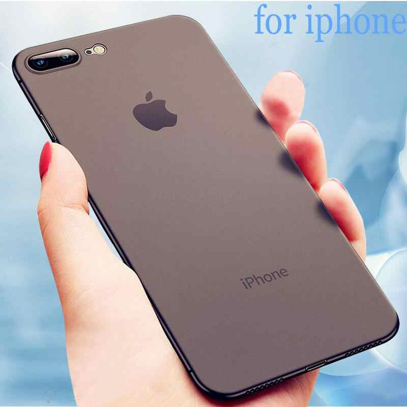 Luxury Ultra Thin 0.2mm PC Phone Case On The For IPhone X XR XS Max Full Cover on For IPhone7 6 6s  8 Plus Matte Shockproof Case
