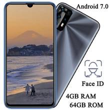 Téléphone portable avec caméra avant et arrière 10i, écran de 6.26 pouces, reconnaissance faciale, 4 go de RAM, 64 go de ROM, 5mp + 13mp, Android 7.0, version globale