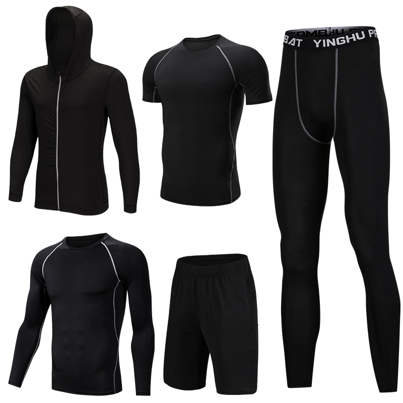 Men New Autumn And Winter Sportswear Fitness Suit Men's Outdoor Running Fitness Clothing Basketball Training Sportswear