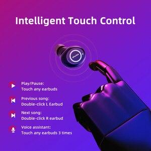 Image 2 - AWEI T19 TWS 5,0 2500 мАч светодиодный дисплей супер бас стерео наушники с шумоподавлением водонепроницаемый IPX5 с двойным микрофоном для игр, спорта