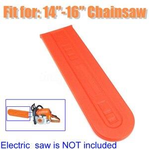 Image 2 - 1x פלסטיק כתום Chainsaw בר להגן על כיסוי נדן משמר עבור Stihl Chainsaw בר כיסוי כלי חלק אבזרים