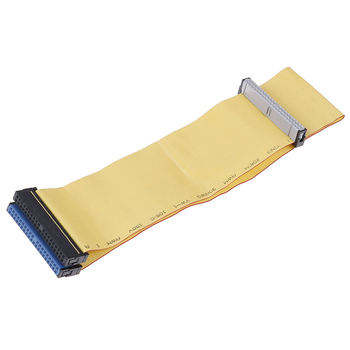 1PCS 40 Pins 80 Wire PATA/EIDE/IDE Hard Drive DVD Ribbon Cable Yellow 40cm For Dual Devices Telecom Parts image