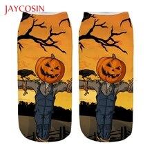 JAYCOSIN, интересные милые носки на Хэллоуин, 3D, Хэллоуин, с принтом в виде тыквы, повседневные, средние, спортивные носки, подходят для всех возрастов 830#2