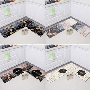 Anti-slip Kitchen Floor Mat Printed Modern Kitchen Rugs Long Strip Waterproof Kitchen Floor Mats Home Entrance Doormat