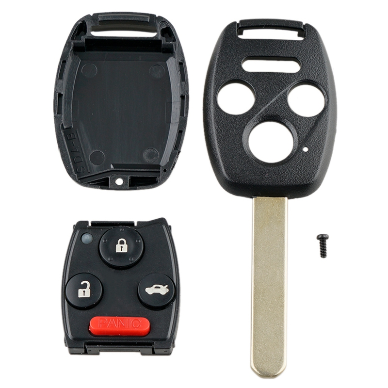 Car Smart Remote Key 4 Buttons Car Key Fob Fit for Honda Civic Ex Si 2006 2011 313.8Mhz N5F S0084A|Key Blanks| |  - title=