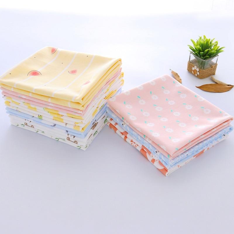 Infant  Swaddling Baby Blanket Cotton  Bath Towel Summer Blankets Print Outdoor Nursing 80*80cm WWD002