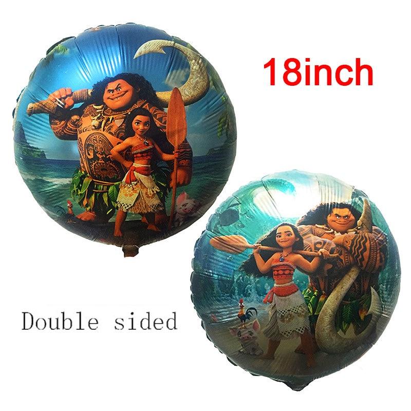 18-дюймовые круглые шары Моана, Милая принцесса, шары из алюминиевой фольги, украшения для дня рождения вечерние товары для вечеринки, детские игрушки 1 шт./лот-0