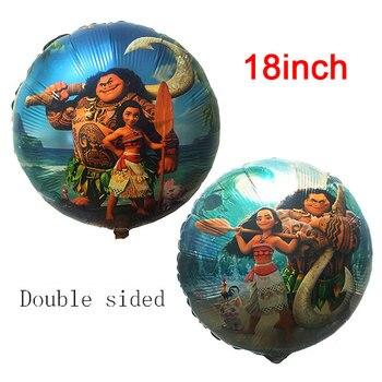18-дюймовые круглые шары Моана, Милая принцесса, шары из алюминиевой фольги, украшения для дня рождения вечерние товары для вечеринки, детские игрушки 1 шт./лот