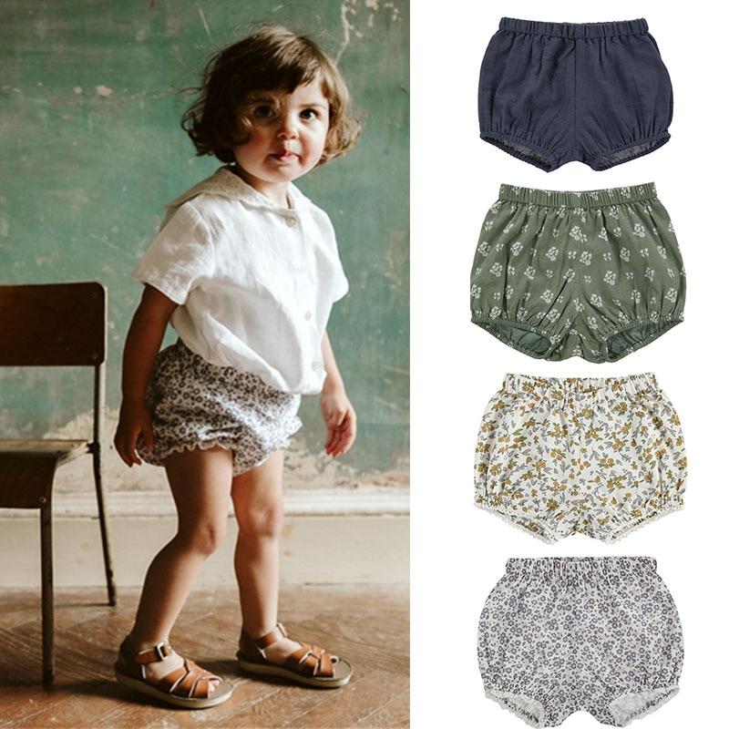 EnkeliBB LCC Brand Toddler Boys Girls Summer Bloomers Cotton Linen Baby Summer Shorts Fresh Style Kids Unisex Bloomers