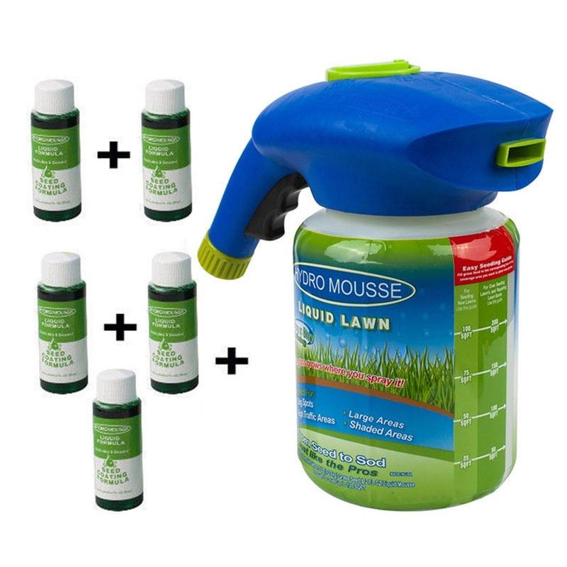 NEW Household Seeding System Liquid Spray Seed Lawn Shot Grass Care