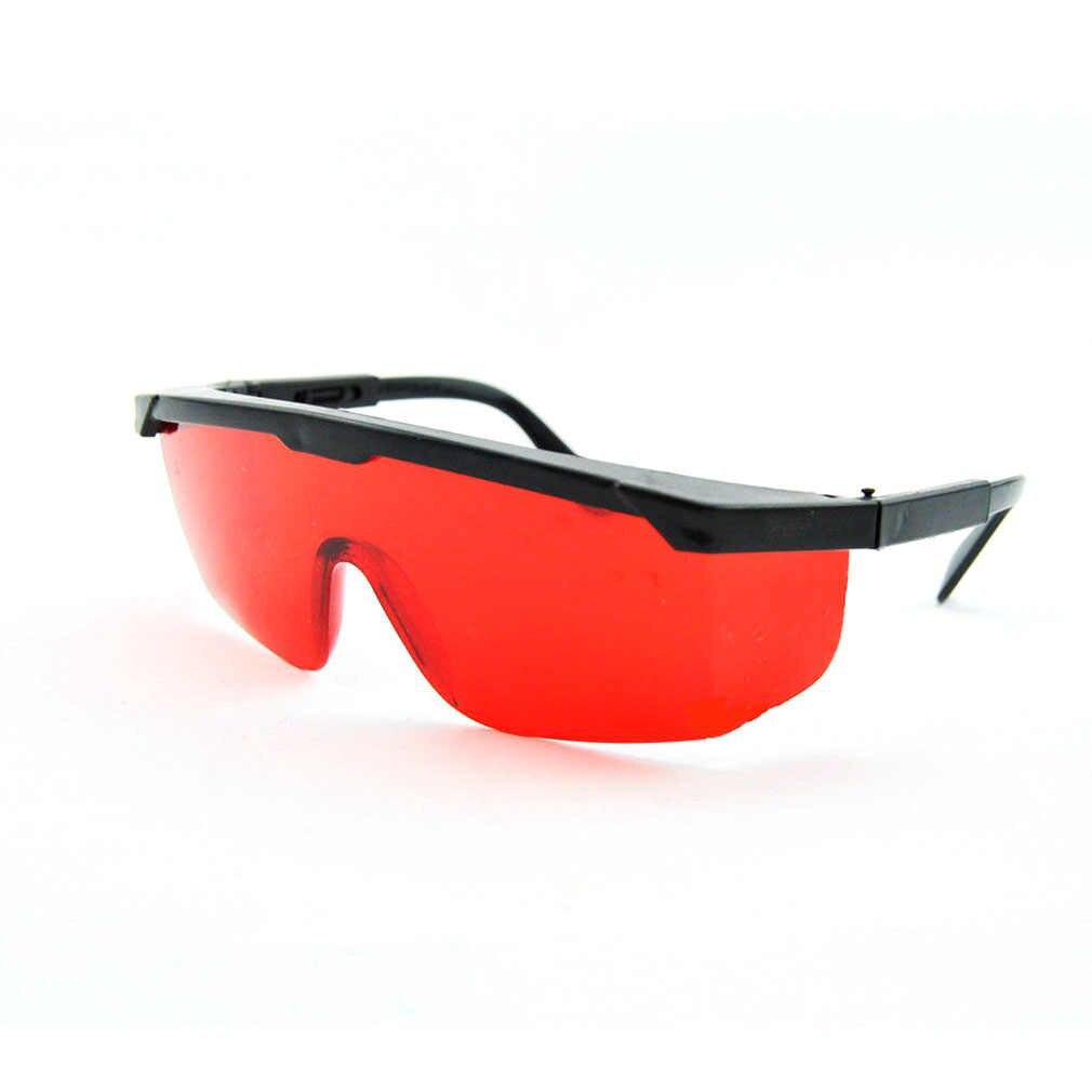 LESHP koruma gözlükleri 1 takım kırmızı mavi gözlük lazer güvenlik gözlükleri 190nm to 540nm lazer koruyucu gözlük ile kadife kutu
