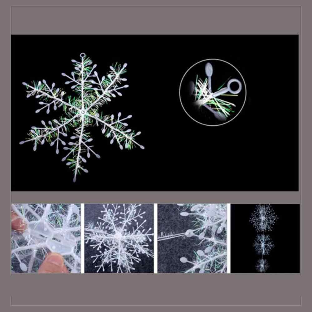 Dekoracja na choinkę klasyczna urocza biała śnieżynka świąteczne ozdoby świąteczne Home Decor
