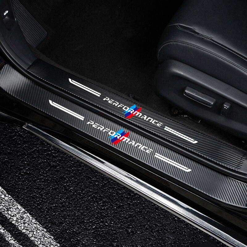 Car threshold protection 3D 4PCS carbon fiber car decoration for BMW f30 f10 F18 5 X3 X5 M3 M4 M5 E34 E90 Car decoration
