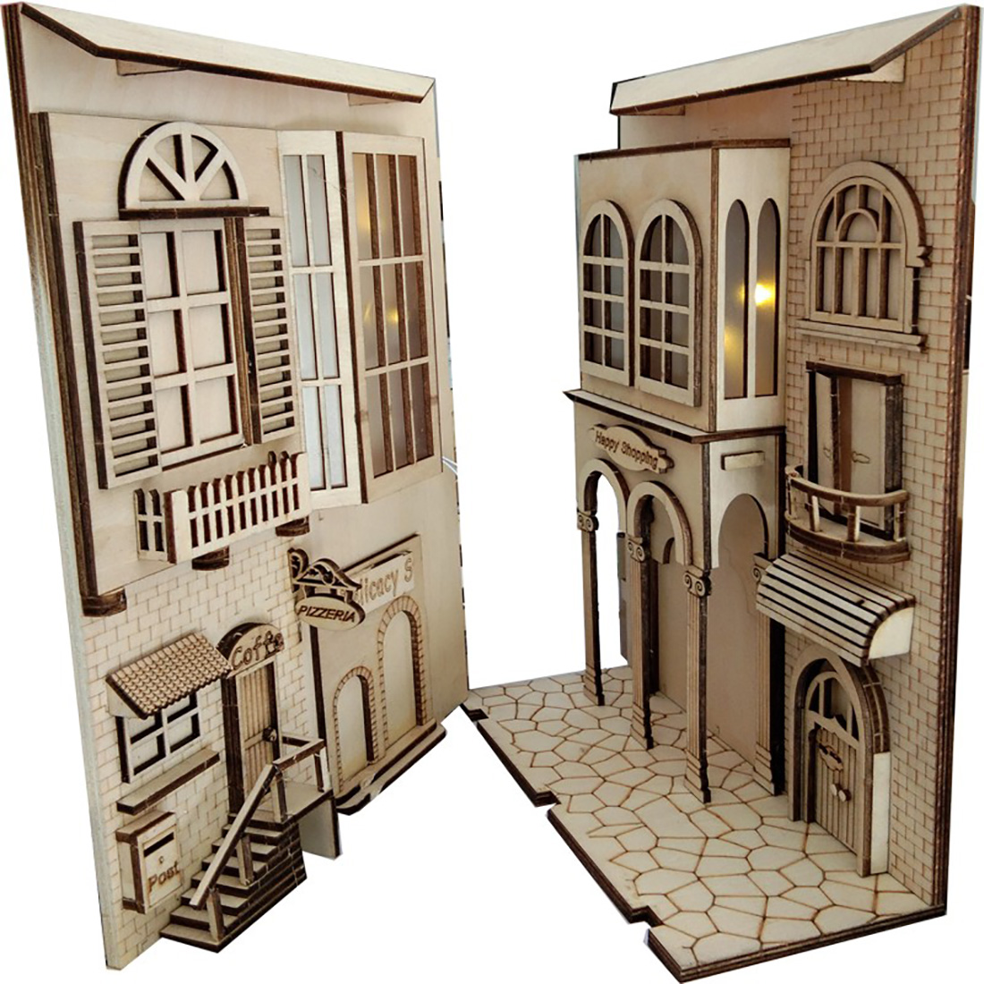 European Town 3D Miniature Book Nook