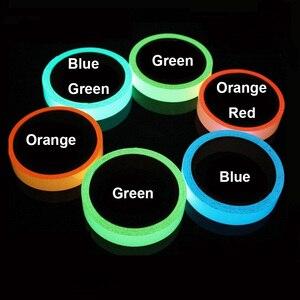 Image 3 - Светящаяся флуоресцентная Ночная самоклеящаяся светящаяся в темноте клейкая лента YX безопасное домашнее украшение предупреждающая клейкая лента