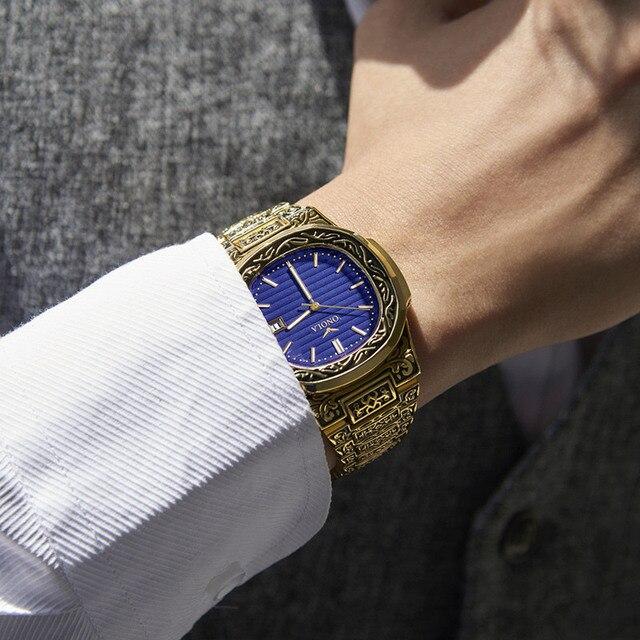 ONOLA Men's Retro Classic Vintage Fashion Calendar Date Display Waterproof Quartz watches 4