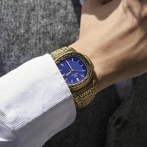 Image 4 - ONOLA Produto genuíno de luxo homens relógio de quartzo origem 2019 unique ouro clássico relógio de pulso à prova d água Do Vintage moda casual homens relógio de ouro