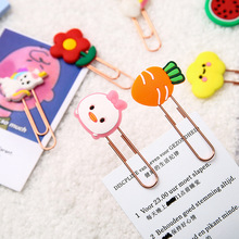 2pcs/lot Kawaii Paper Clip Decorative Bookmark Binder File Clips School Office Stationery Accessories Paperclips