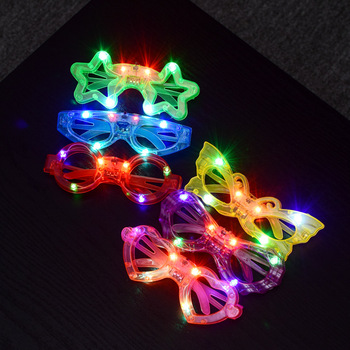 LED Glasses Flash Luminous Blind Eyewear Light Eye Mask Blinking Glowing Glasses Wedding Carnival Dance Bar Party Christmas Toy image