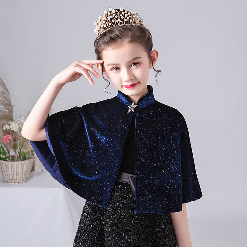 Girls Wedding Cape Shawl For Party Evening Dress Bolero Girl Kids Velvet Wedding Jacket Cape Cloak Flower Girl Coat Cape Bolero