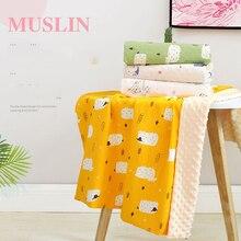 Baby Blanket Burb-Cloth Bedding-Set Cotto Infants Pea Sweet for 70x110cm Handmade Modern