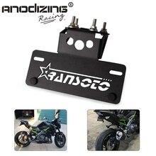 אופנוע פגוש רישיון מחזיק Eliminator רישיון צלחת מסגרת סוגר עבור KAWASAKI Z900 Z 900 2017 2018 2019 2020