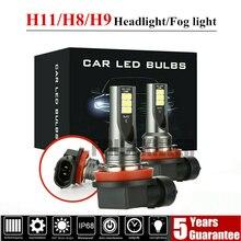 H8/H9/H11-3030-12SMD Car Daytime Running Light Car Fog Light 6000K-6500K xenon white LED Lamp For 12V-24V Car omron proximity switch sensor new original authentic 2m tl w1r5mc1