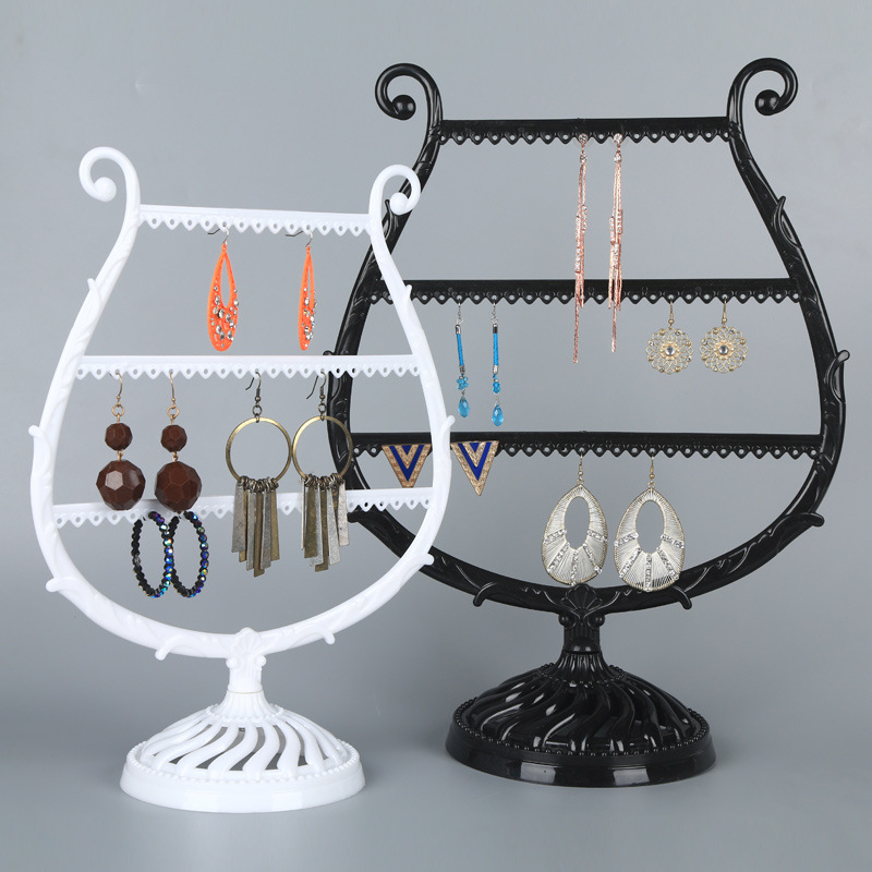Pearl Jewelry Display Home Acrylic Packaging Cards Earring Stand Stud 24//48 Hole