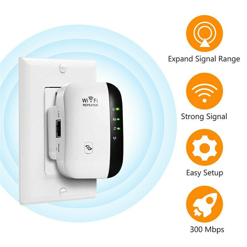 New Wireless WiFi Repeater Network Signal Amplifier Booster Extender For Phone Tablet Computer