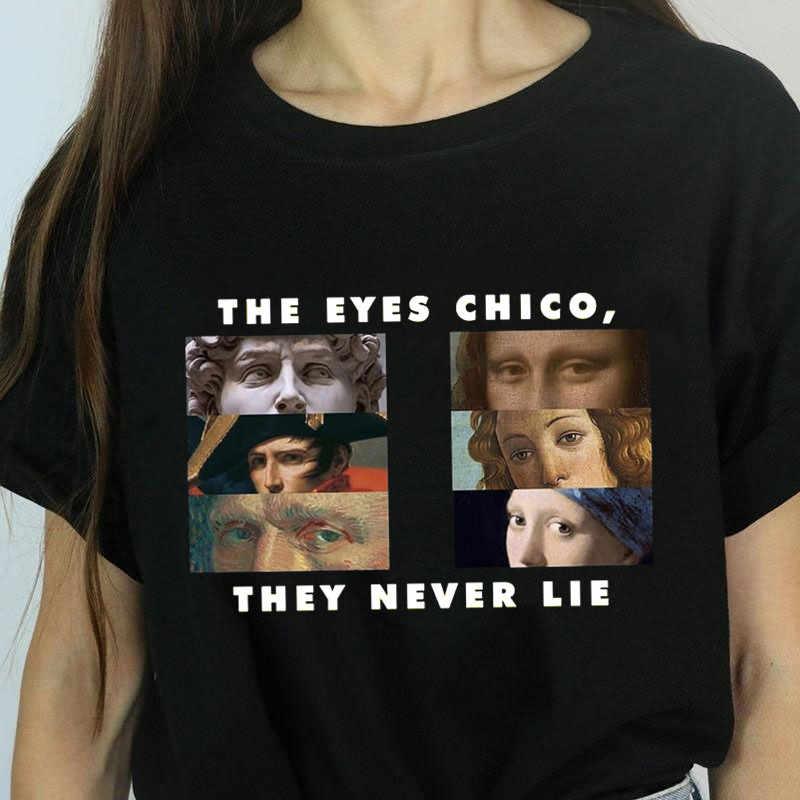 ผู้หญิงตา Chico Then ไม่เคยโกหก Halloween T Shirt หญิง Harajuku ฤดูร้อนเสื้อยืดแฟชั่น Top Tees