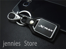 Fashion motorcycle leather key ring Keychain with logo for Yamaha XMAX X MAX 125 250 300 400 2017 2018 2019 2020 Accessories