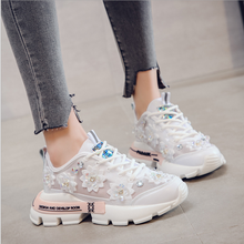 2020 New Chunky Sneakers Fashion Crystal Women Vulcanize