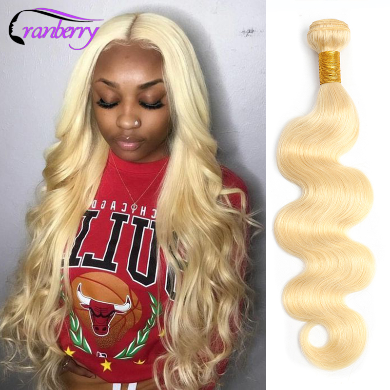Cranberry <font><b>Hair</b></font> Brazilian <font><b>Body</b></font> <font><b>Wave</b></font> Honey Blonde <font><b>613</b></font> <font><b>Bundles</b></font> Deal Can Buy 1/<font><b>3</b></font>/4 <font><b>Bundles</b></font> 100% Remy Human <font><b>Hair</b></font> <font><b>Bundles</b></font> 8-26 Inch image