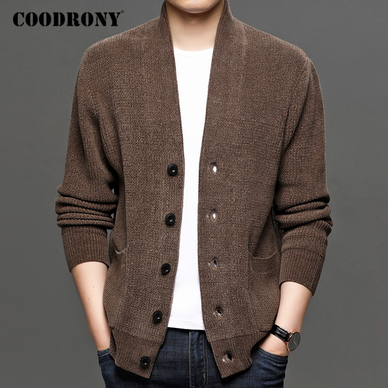COODRONY Turtleneck Sweater Coat Men Fashion Streetwear Cardigan Men Autumn Winter New Arrival Soft Warm Knitted Cardigans C1195