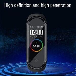 Image 2 - 100 sztuk 3D miękka folia na ekran dla Xiaomi Mi Band 5 Smartwatch Miband 4 pełna pokrywa folia ochronna (bez szkła hartowanego)