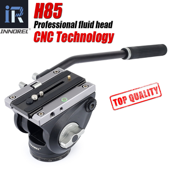 цена на H85 CNC technology Video Fluid Head 10kg load Hydraulic Damping adjustable Tripod Heads Manfrotto 501PL Q. R. Plate for Monopod