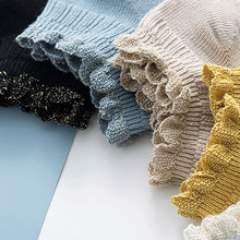 frilly socks korean fashion calcetines mujer skarpetki damskie chaussette femme style women cute mesh sock woman japanese cotton